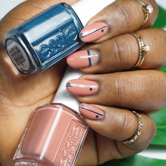 Minimal Nail Art With Essie Sarah James Nails